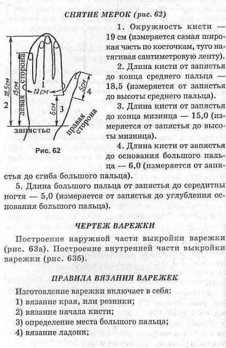 Расчет пряжи для вязания варежек 97